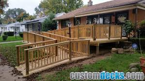 Wheelchair Ramp Handrails Wheelchair Ramp Photos Mge Carpentry Trex Deck Builder In Novi