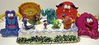 monsters inc cake toppers buy monsters inc 11 cake topper set featuring decorative