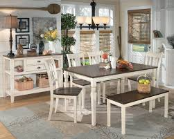 whitesburg 6 piece rectangular table set with bench by signature