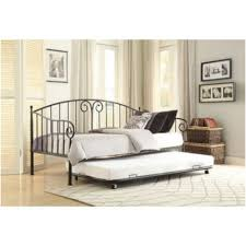 bedroom white metal girls daybed with pop up trundle and skirt