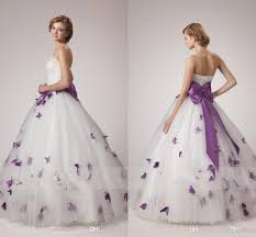purple wedding dresses discount white and purple wedding dresses 2018 unique a line