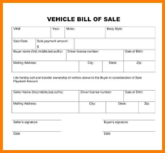 printable vehicle bill of sale 12 simple vehicle bill of sale lease template