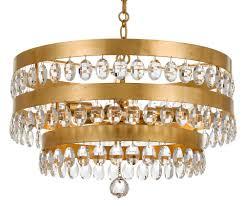 Crystorama Crystorama Perla 5 Light Antique Gold Chandelier 6106 Ga The