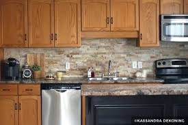 what color backsplash with wood cabinets painting kitchen cabinets before after