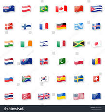 Swiss Flag Emoji World Flags Vector Icon Set Shiny Stock Vector 684788968