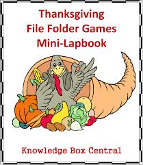 educational freebie thanksgiving file folder lapbook