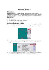 distillation tutorial in hysys
