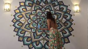 Sharpie Wall Mural Mandala Mural Youtube
