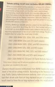 takata air bag recall info 2003 2004 x5 owners bimmerfest bmw