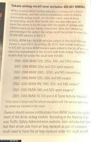 takata air bag recall info 2003 2004 x5 owners bimmerfest bmw