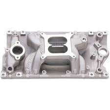 edelbrock 7516 rpm air gap vortec intake manifold for sbc with