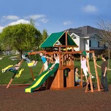 adventure playsets meridian cedar wooden swing set walmart com