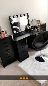 black makeup desk with drawers diy vanity mirror with lights for bathroom and makeup station ikea