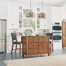 home styles tahoe aged maple kitchen island with wood top and bar