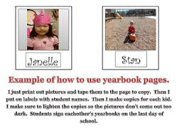 class yearbook end of the year activities with class yearbook printable tpt