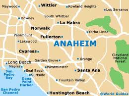 california map in usa anaheim maps and orientation anaheim california ca usa