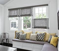 Kitchen Blinds And Shades Ideas Gorgeous Gray And White Roman Shades And Best 10 Blue Kitchen