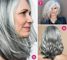 Frisur Lange Haare Naturwelle by Tolle Looks Für Graues Haar Auf