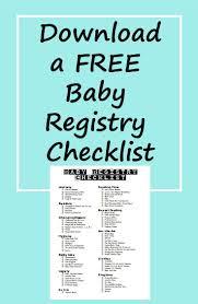 baby registeries free baby registry checklist noobymom