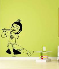 trends on wall black pvc little krishna wall sticker buy trends trends on wall black pvc little krishna wall sticker