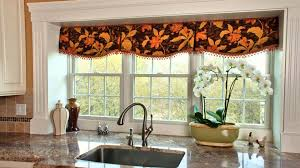 Small Kitchen Window Curtains by Interior Good Choice For Your Window Design With Window Valance
