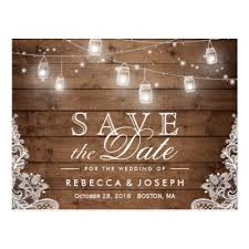 wedding save the date postcards rustic country lights jars save the date postcard zazzle