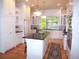 Kitchen Decor Idea by Elegant U Shaped Kitchen Decor Idea With Hanging Lamps 9119