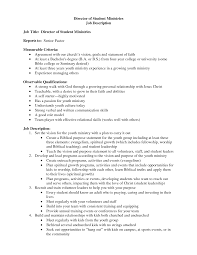 resume for youth pastor youth minister resume virtren com lead
