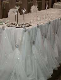 Cloth Table Skirts by Cinderella Skirting Bling It On Pinterest Head Tables