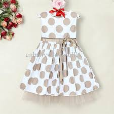 2018 2013 toddlers summer dress polka dots 2 layers dresses