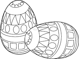 free printable easter egg coloring pages kids paper art