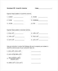 scientific notation worksheet best 25 scientific notation ideas