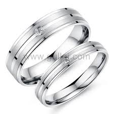 titanium wedding ring sets for him and engraved titanium couples rings set for him and personalized