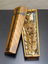 wooden coffin file momento mori in the form of a small coffin probably southern