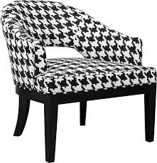 Black And White Accent Chair Macy Houndstooth Linen Look Fabric Accent Chair Black And White