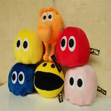 6pcs lot 2015 new movie pixels plush toys pacman stuffed toy doll