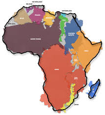 map 4 africa the real size of africa