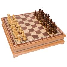 helen chess inlaid wood board with high quality weighted