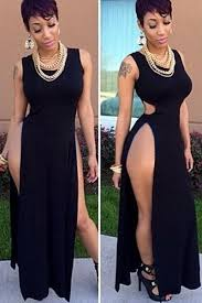 maxi dress with side split images