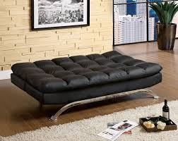 Leather Couch Futon Amazon Com Furniture Of America Adelle Convertible Sofa Futon