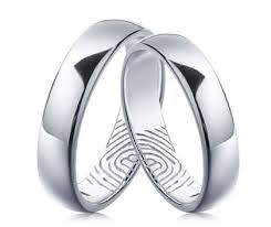 fingerprint wedding band inside engraved fingerprint wedding bands set for him and in