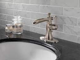 Kitchen Faucet Brushed Nickel Bathroom Elegant Design Of Delta Cassidy Faucet For Pretty