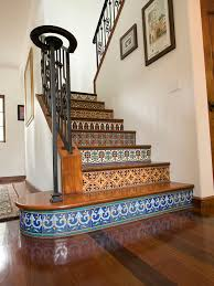 stairs mosaic painted tiles tile stairs and stair decor