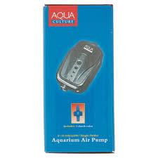 air powered water pump aqua culture 5 15 gallon single outlet aquarium air pump