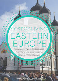 how much does it cost to live in eastern europe