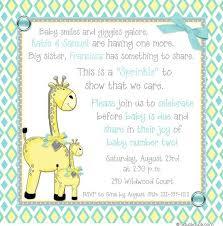 sprinkle shower baby giraffe shower invitation yellow aqua gray