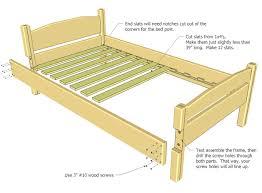 Bed Frame Wood Size Bed Plan