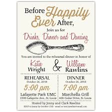 Rehearsal Dinner Invites Before Happily Ever After Rehearsal Dinner Invitations Paperstyle