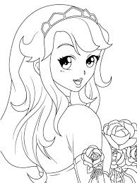 coloring pages girls anime coloring book pages 7341