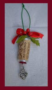 ideas and inspirations wine cork ornament